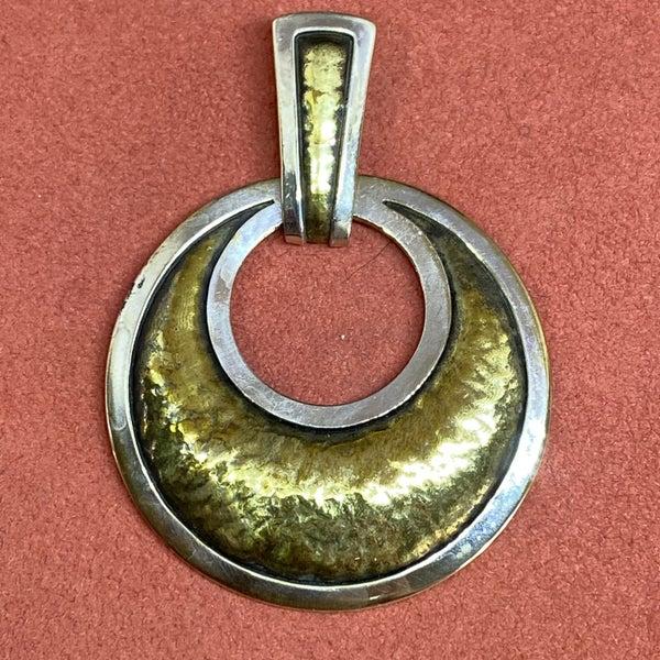 Retired James Avery Brass & Silver Mod Pendant