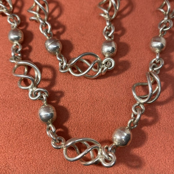 Taxco Sterling Silver Twist Necklace