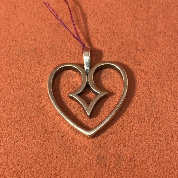 Retired James Avery Heart Pendant