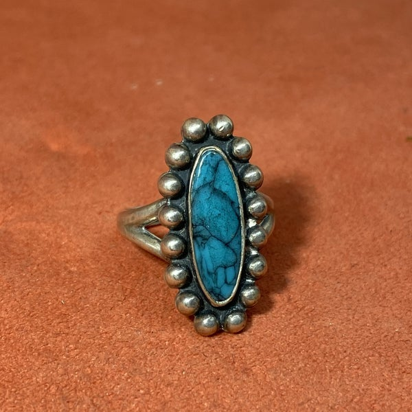 Turquoise Beaded Ring
