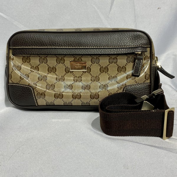 Gucci Monogram Leather Belt Bag