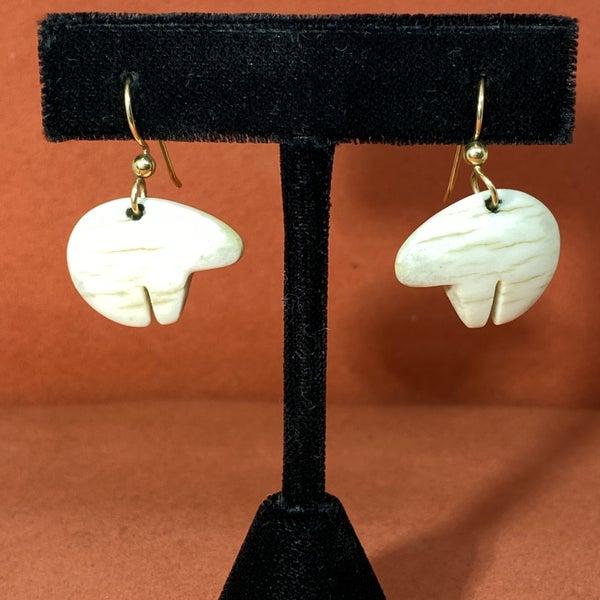 Fetish Earrings w/ 14K Gold Hooks -Bear