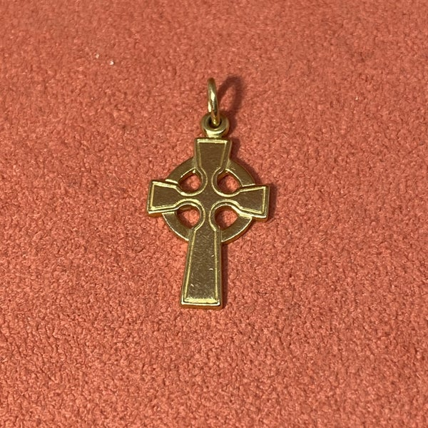 Retired James Avery Celtic Cross Charm 14k Gold