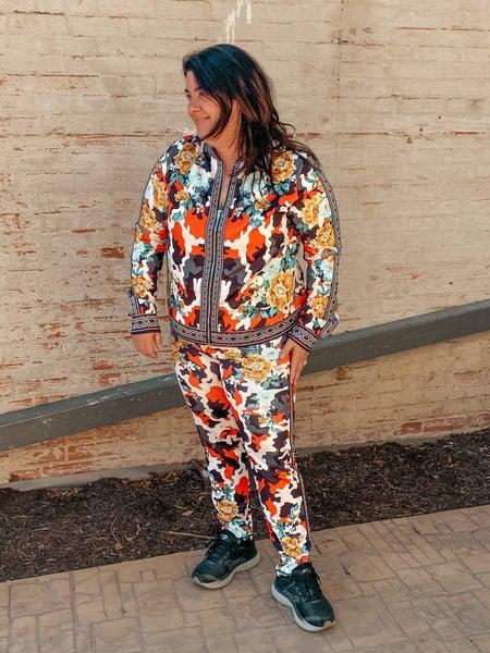 Floral Track Suit Set