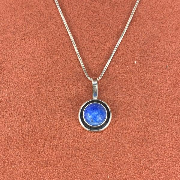 M&S Stone Pendant Necklace Lapis