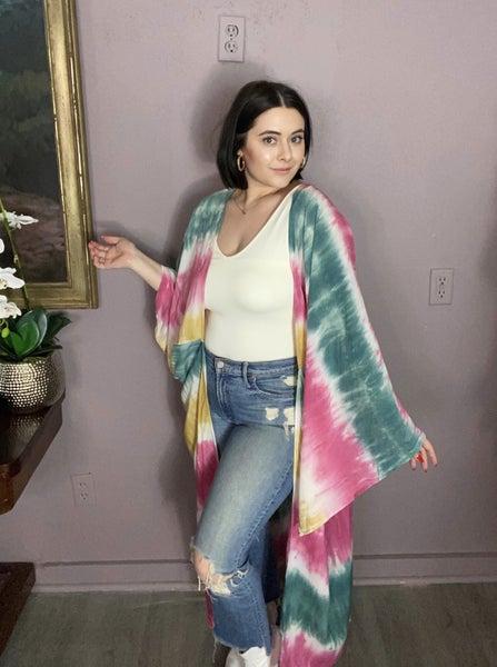 Tie-Dye Maxi Kimono