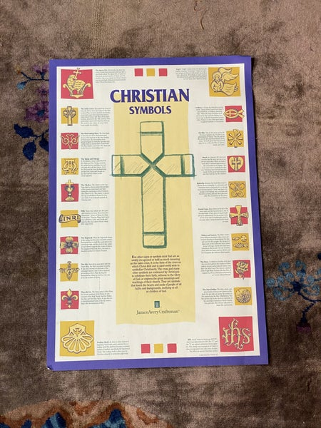 James Avery 1996 Christian Symbols Poster