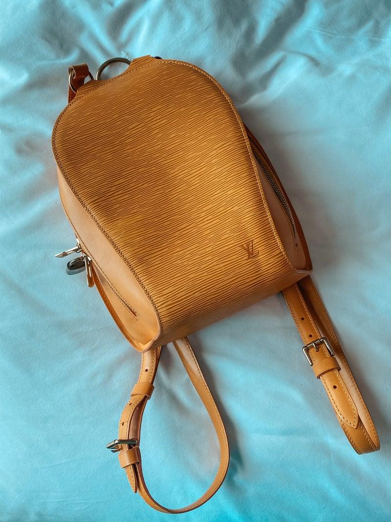 Louis Vuitton Mabillon Yellow Epi Leather Mini Backpack