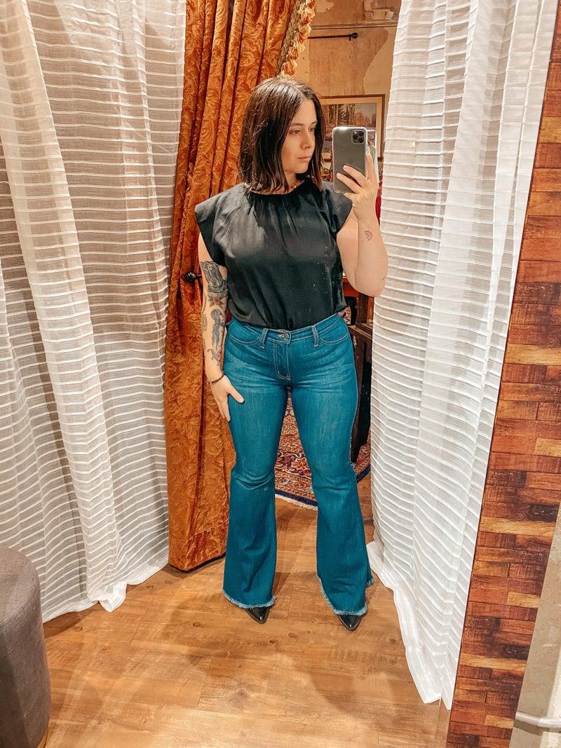 Judy Blue Hi Waisted Super Flare Jeans