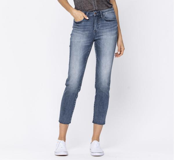 Judy Blue Non Distressed Raw Hem Skinny Jeans *PRE ORDER*