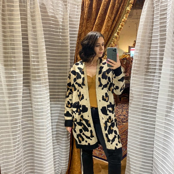 Kinslee Leopard Knit Cardigan