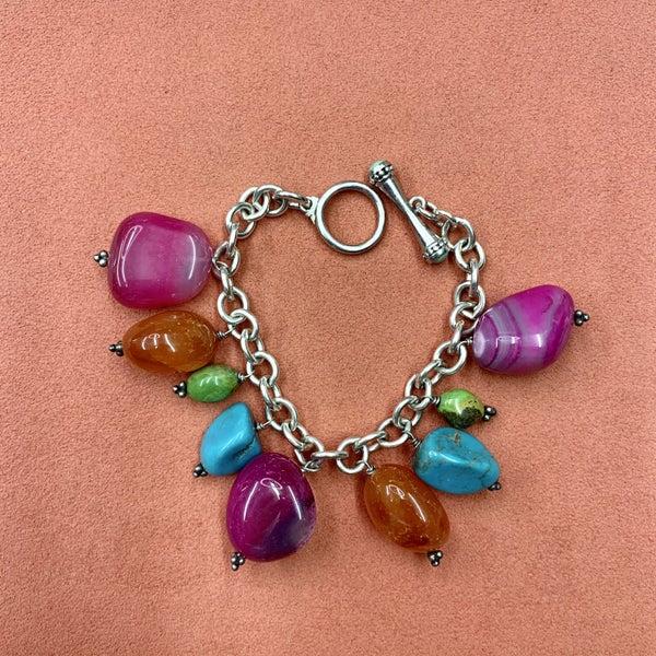 Colorful Stone Charm Bracelet