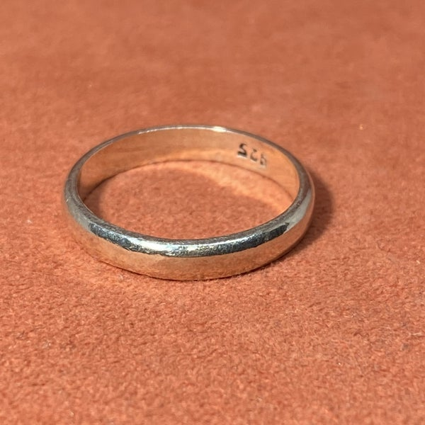 Sterling Silver Smooth Band