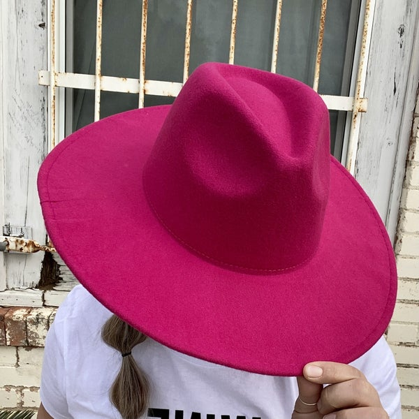 Fame Hot Pink Brimmed Hat