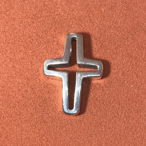 Retired James Avery Sterling Silver Shared Faith Cross