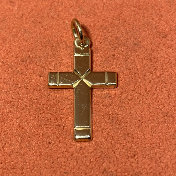 James Avery 14k Gold Plain Latin Cross, Medium