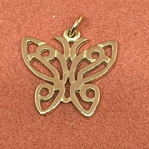 Retired James Avery Lace Butterfly Charm 14k Gold
