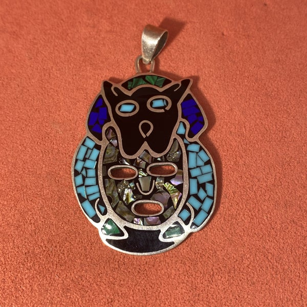 Vintage Taxco Mexican Tribal Pendant