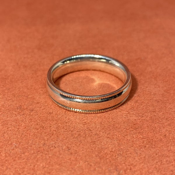 Sterling Silver Band w/ Detailing