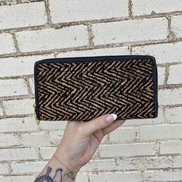 Lodis Hair on Hide Zip Around Wallet