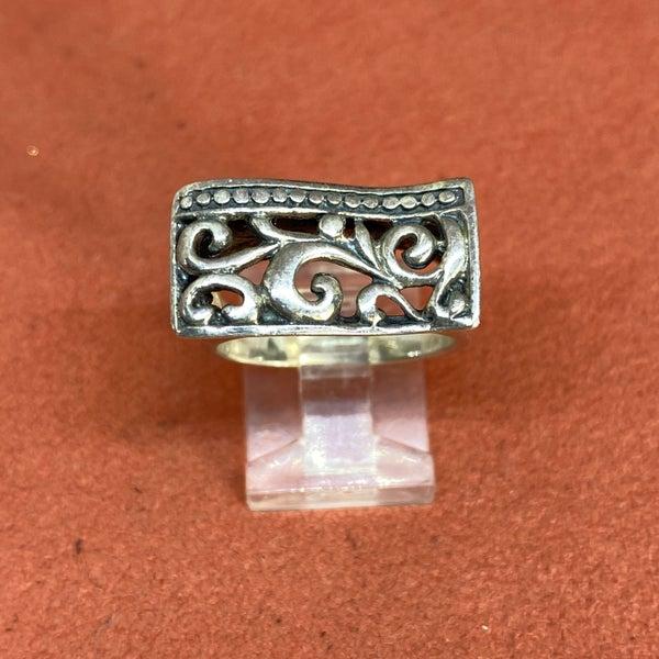 Silver Vine Floral Ring