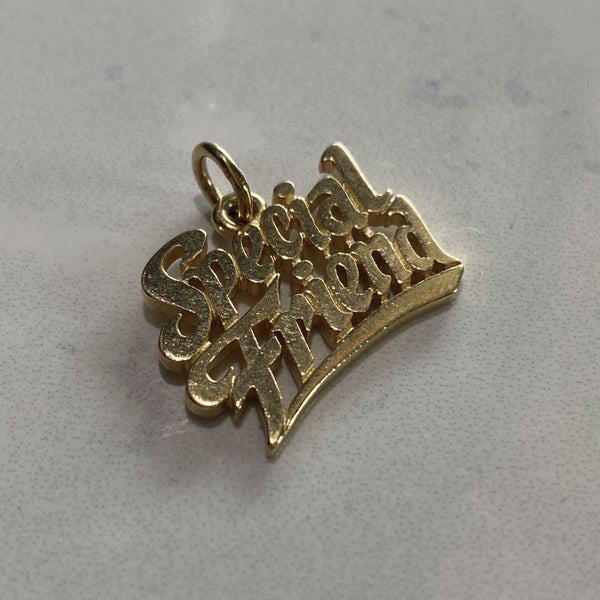 Retired James Avery Special Friend Charm 14k Gold