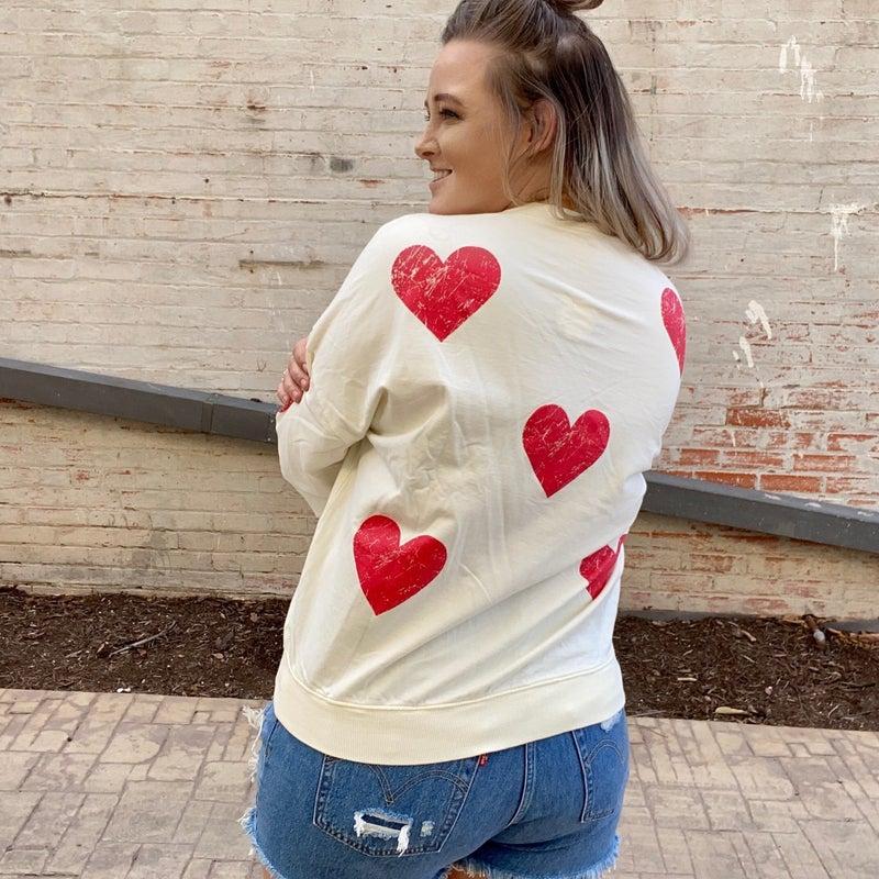 OldTime Lover Heart Pullover