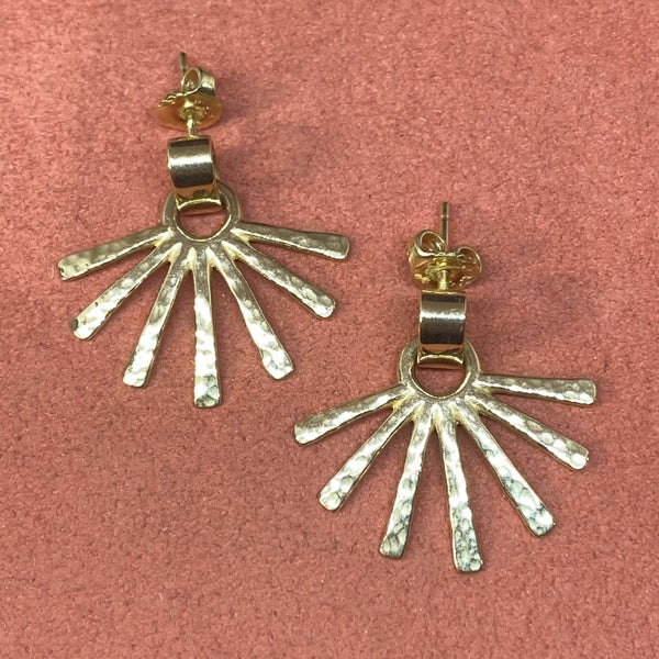 RARE James Avery Sun Burst Earrings 14k Gold