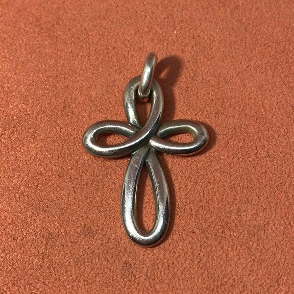 Retired James Avery Eternal Ribbon Cross Pendant