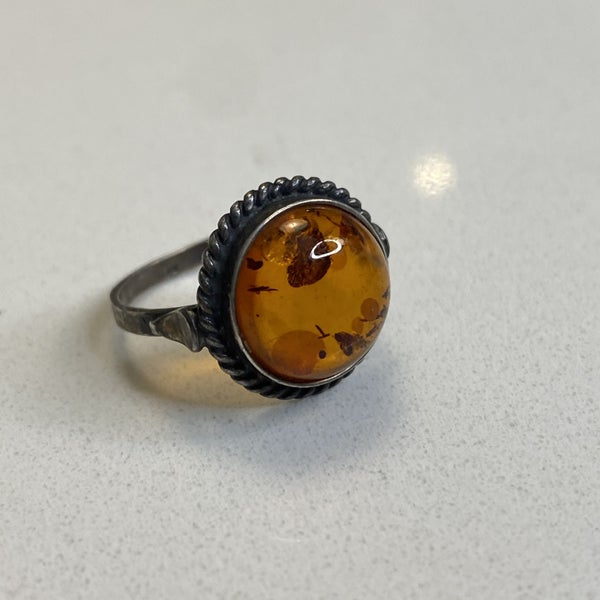 Dainty Amber Ring