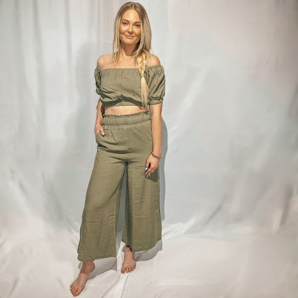 Shawnee Wide Leg Linen Pants