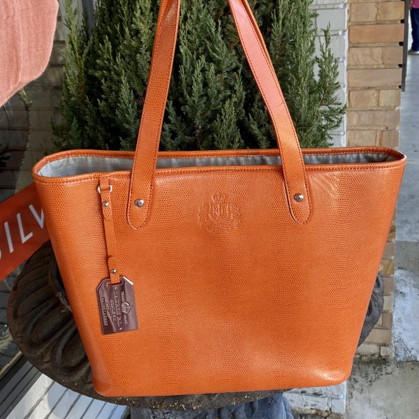 Lauren Ralph Lauren Orange Tote Bag