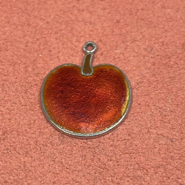 Enamel Sterling Apple Charm