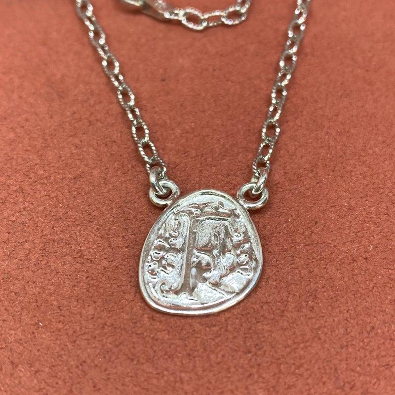 Raymond Mazza Wax Seal Initial Necklace