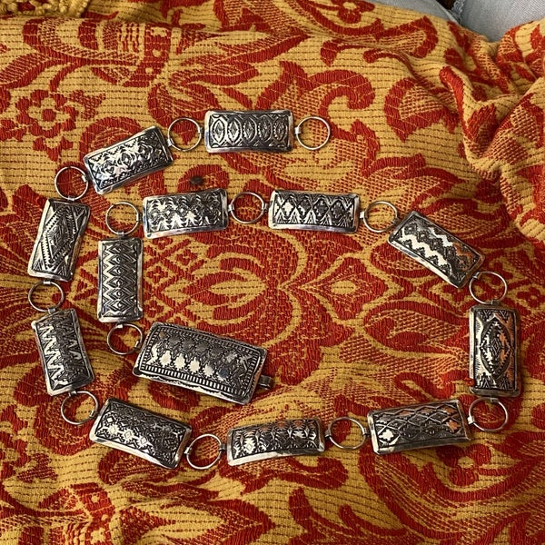 Gorgeous Etched Concho Belt