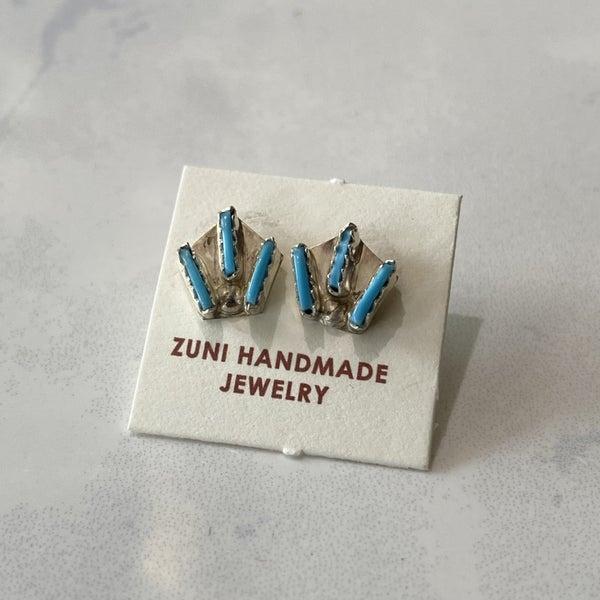 Triple Turquoise Stud Earrings