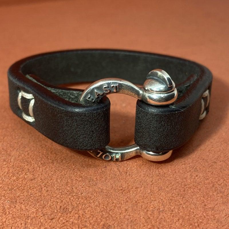 James Avery Hold Fast Leather Bracelet - Sterling Silver