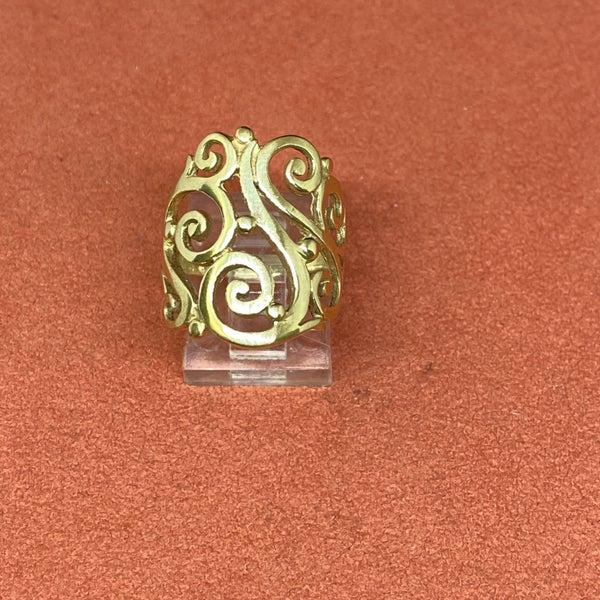 James Avery Wide Sorrento Ring 14k Gold *display*