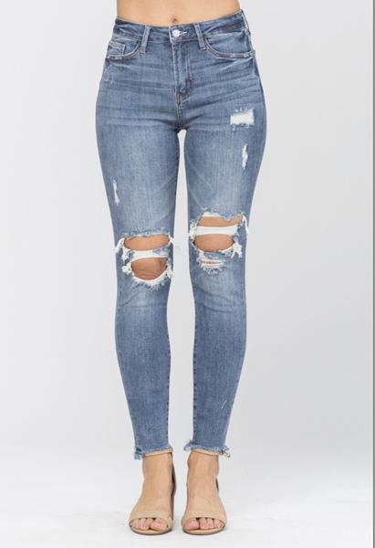 Judy Blue Knee Destroy Skinny Jeans