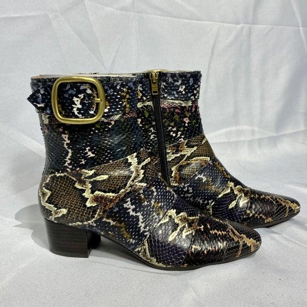Coach Cassandra Snakeskin Boots