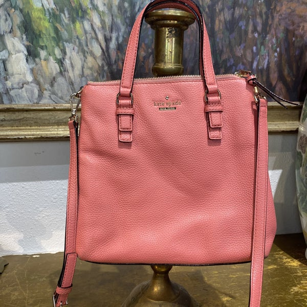 Kate Spade Pink Pebbled Leather Crossbody