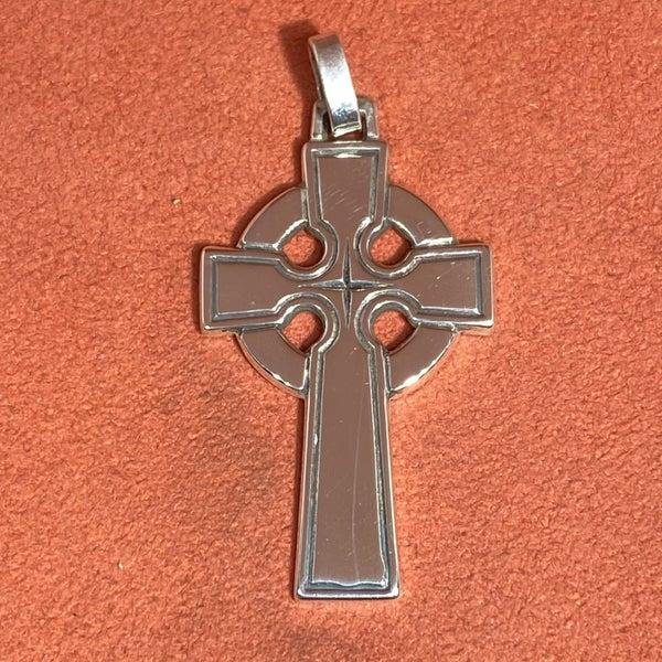Retired James Avery Celtic Cross Pendant w/ Star