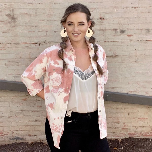 Jessica Tie-Dye Oversized Jacket