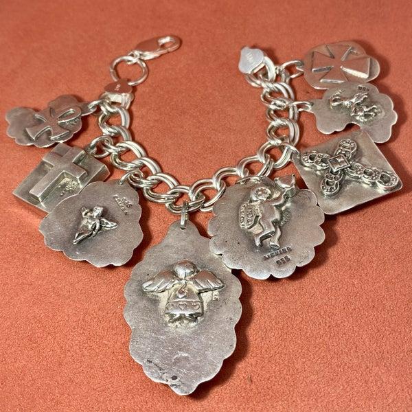 Amazing Taxco Charm Bracelet w/ Stones