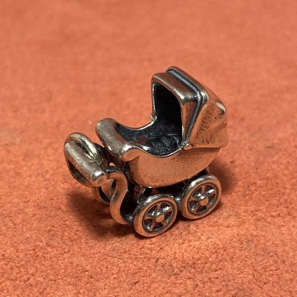 Retired James Avery Baby Carriage Charm