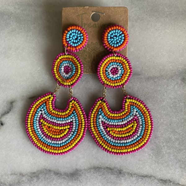 Make a Statement Beaded Earrings