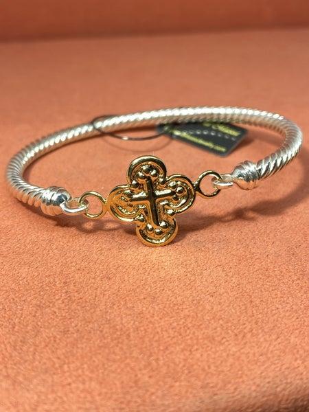 Raymond Mazza Vermeil Cross Bracelet