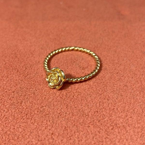 Retired Gold James Avery Rose Spinner Ring