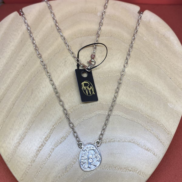 Raymond Mazza Wax Seal Initial Necklace