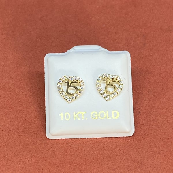 Sweet 15 Post Earrings - 10K